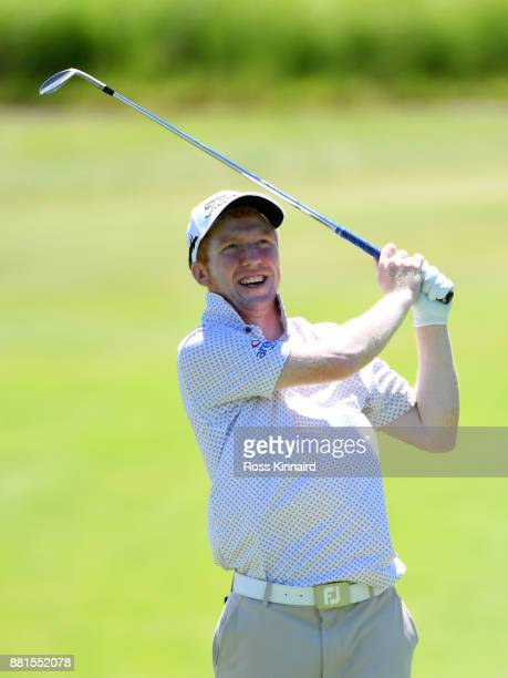Gavin Moynihan of Ireland in action during a practice round prior to the AfrAsia Bank Mauritius Open at Heritage Golf Club on November 29 2017 in Bel...