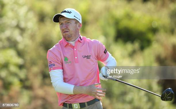 Gavin Moynihan of Ireland in action during round three of the European Tour Qualifying School Final Stage at Lumine Golf Club on November 13 2017 in...