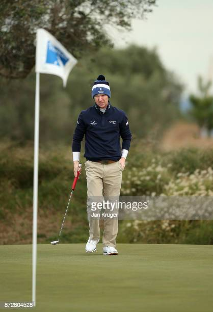 Gavin Moynihan of Ireland in action during the first round of the European Tour Qualifying School Final Stage at Lumine Golf Club on November 11 2017...