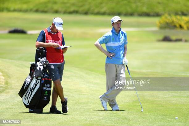 Gavin Moynihan of Ireland on the 18th fairway during day one of the AfrAsia Bank Mauritius Open at Heritage Golf Club on November 30 2017 in Bel...