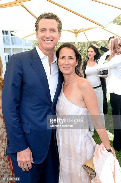 Gavin Newsom and Anna Getty attend Annual HEART Brunch Featuring Stella McCartney on April 14 2016 in Los Angeles California