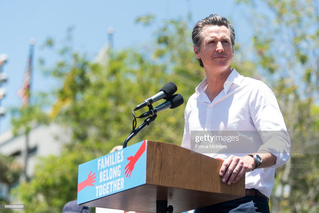 Families Belong Together  - Freedom for Immigrants March Los Angeles : News Photo