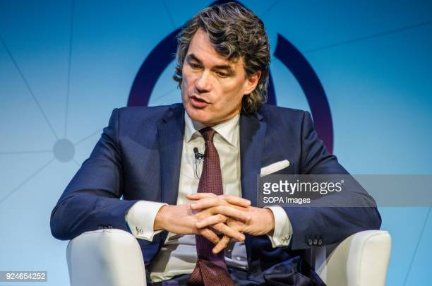 Gavin Patterson BT Group CEO on stage during his speech at the Key note Nº 3 of Barcelona Mobile World Congress