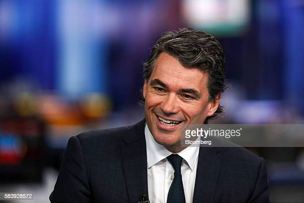 Gavin Patterson chief executive officer of BT Group Plc reacts during a Bloomberg Television interview in London UK on Thursday July 28 2016 BT Group...