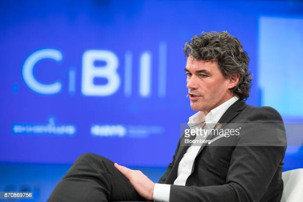 Gavin Patterson chief executive officer of BT Group Plc speaks at the Confederation of British Industry Annual Conference in London UK on Monday Nov...