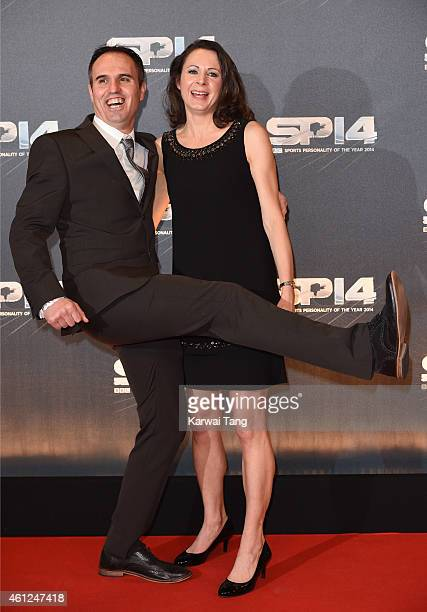 Gavin Pavey and Jo Pavey attend the BBC Sports Personality of the Year awards at The Hydro on December 14 2014 in Glasgow Scotland