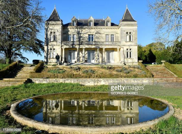 Gavin Quinney owner and winemaker at Chateau Bauduc in the Bordeaux vineyards near the French village of Creon poses at his property on February 13...