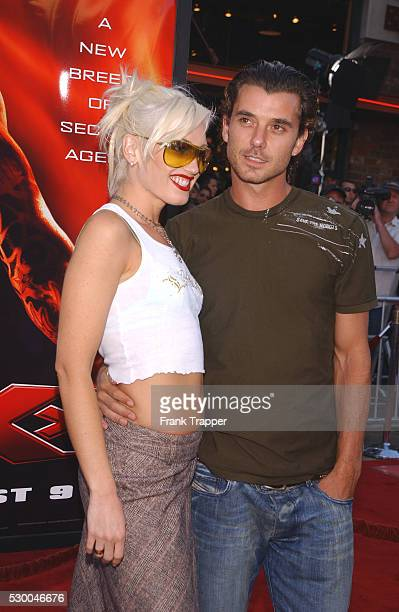 """Gavin Rossdale and Gwen Stefani arriving at the world premiere of """"xXx."""""""