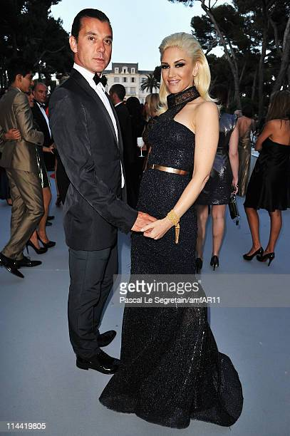 Gavin Rossdale and Gwen Stefani attend amfAR's Cinema Against AIDS Gala during the 64th Annual Cannes Film Festival at Hotel Du Cap on May 19, 2011...