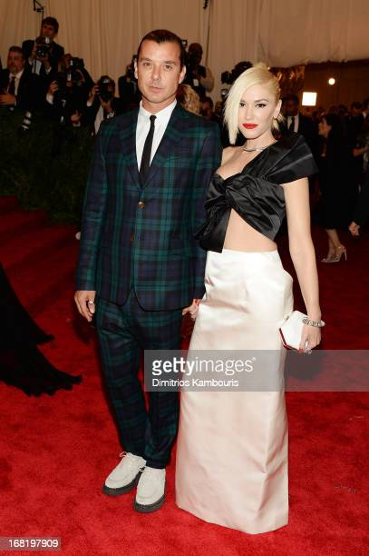 Gavin Rossdale and Gwen Stefani attend the Costume Institute Gala for the PUNK Chaos to Couture exhibition at the Metropolitan Museum of Art on May 6...