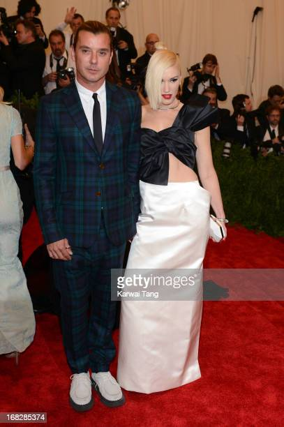"""Gavin Rossdale and Gwen Stefani attends the Costume Institute Gala for the """"PUNK: Chaos to Couture"""" exhibition at the Metropolitan Museum of Art on..."""