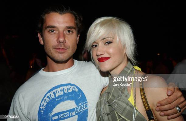 Gavin Rossdale and Gwen Stefani during TMobile Action Sports Team Hosts 'ActionPacked' Inside Party at ArcLight Cinema Rooftop in Hollywood...