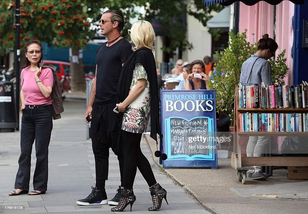 Gavin Rossdale and Gwen Stefani seen in Primrose Hill after having lunch together on August 19, 2013 in London, England.