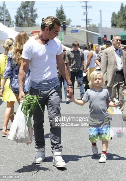 Gavin Rossdale and Zuma Rossdale are seen on June 16 2013 in Los Angeles California