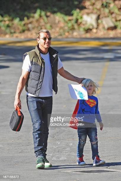 Gavin Rossdale and Zuma Rossdale are seen on November 6 2013 in Los Angeles California