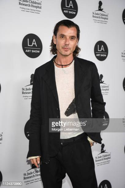 Gavin Rossdale arrives at the LA Art Show 2019 Opening Night Gala at the Los Angeles Convention Center on January 23 2019 in Los Angeles California