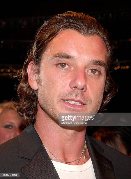 Gavin Rossdale during Olympus Fashion Week Spring 2006 Gwen Stefani for LAMB Front Row at Roseland Ballroom in New York City New York United States