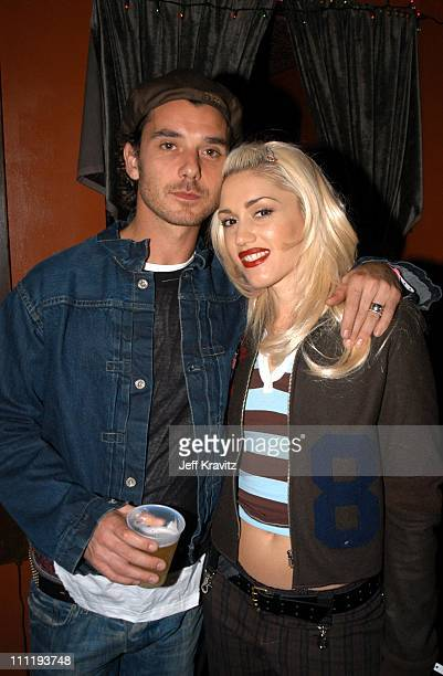 Gavin Rossdale Gwen Stefani during KROQ Almost Acoustic Christmas Concert at Universal Amphitheater in Universal City CA United States