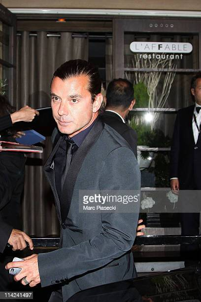 Gavin Rossdale leaves the 'L'Affable' restaurant on May 16 2011 in Cannes France