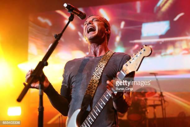 Gavin Rossdale of Bush performs at O2 Shepherd's Bush on March 14 2017 in London United Kingdom