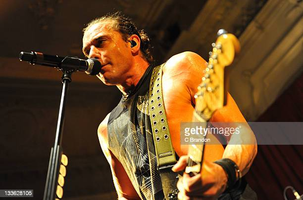 Gavin Rossdale of Bush performs on stage at Bush Hall on November 20 2011 in London United Kingdom