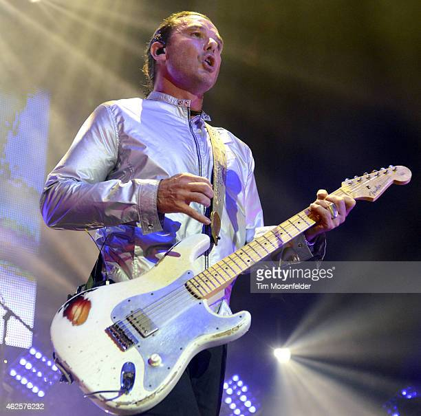 """Gavin Rossdale of Bush performs the band's tour opener in support of """"Man on the Run"""" at The Masonic Auditorium on January 30, 2015 in San Francisco,..."""
