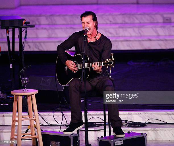 """Gavin Rossdale performs onstage at the 3rd Annual """"Rock The Kasbah"""" fundraising galal held at Vibiana on October 26, 2009 in Los Angeles, California."""