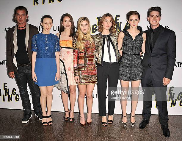 Gavin Rossdale Taissa Farmiga Katie Chang Claire Julien Sofia Coppola Emma Watson and Israel Broussard attend the premiere of The Bling Ring at...