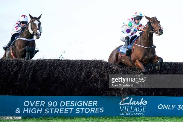 Gavin Sheehan riding Beau Sancy clear the last to win The Smarkets 50 Risk Free On Racing Handicap Chase at Wincanton Racecourse on October 19 2018...