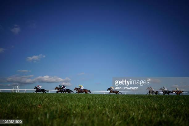 Gavin Sheehan riding Thistle Do Nicely at Wincanton Racecourse on October 19 2018 in Wincanton England