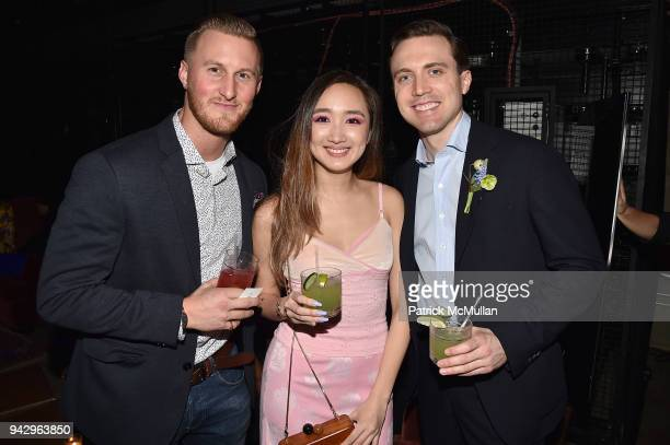 Gavin Shiminski Louise Lui and Colton Klein attend the Spring Party to benefit Aperture and to celebrate The Photographer in the Garden at Public...
