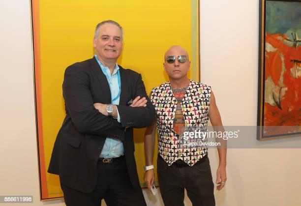 Gavin Spanierman and Art Dealer Poet Jimmy D Robinson attends Art Miami VIP Kickoff at Art Miami Pavilion on December 5 2017 in Miami Florida