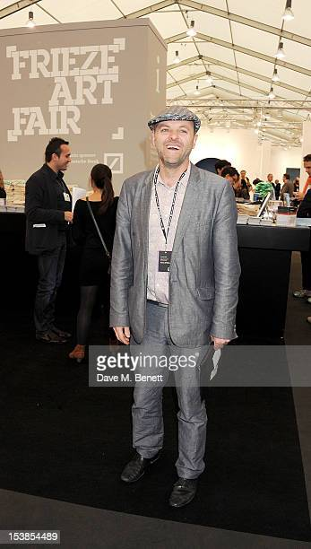 Gavin Turk attends a VIP Preview of the Frieze Art Fair in Regent's Park on October 10 2012 in London England