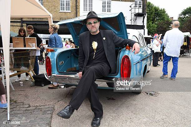 Gavin Turk attends the Vauxhall Art Car Boot Fair 2015 on June 14 2015 in London England