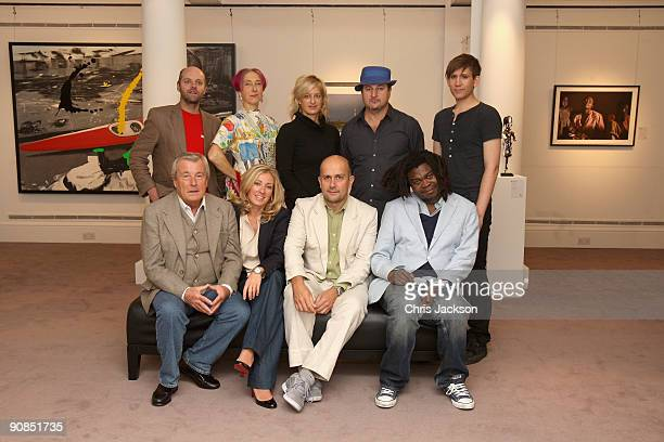 Gavin Turk, Silvia Ziranek, Alison Jackson, Beezy Bailey, Stuart Semple, Terry O'Neil, Jessica Getty, Marc Quin and Yinka Shonibare pose for a...