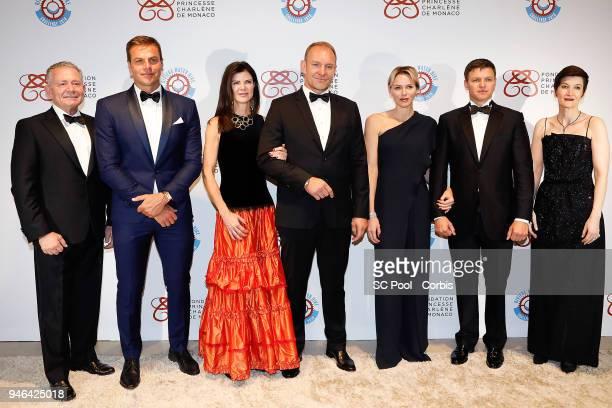 Gavin Varejes Ryk Neethling Nerine and Francois Pienaar Princess Charlene of Monaco Gareth Wittstock and Agnes Falco attend 'Riviera Water Bike...