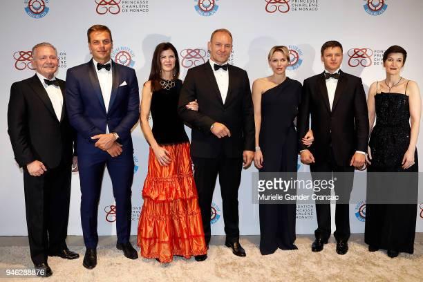 Gavin Varejes Ryk Neethling Nerine and Franois Pienaar Princess Charlene of Monaco Gareth Wittstock and Agns Falco attend Riviera Water Bike...