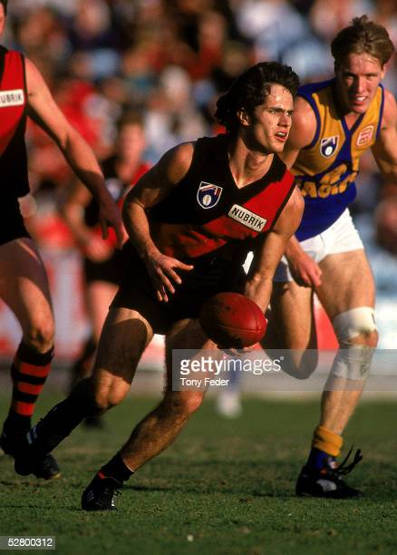Gavin Wanganeen of the Bombers in action during the round 15 AFL match between the Essendon Bombers and the West Coast Eagles held at the Melbourne...