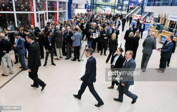 Gavin Williamson CBE Secretary of State for Defence walks past queues waiting for the Prime Minister's speech on the final day of the Conservative...