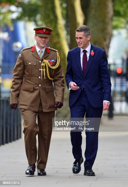 Gavin Williamson outside the Ministry of Defence in London after he was named as the new Secretary of State for Defence following the resignation of...