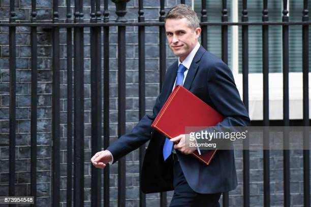 Gavin Williamson UK defence secretary arrives for a cabinet meeting at number 10 Downing Street in London UK on Tuesday Nov 14 2017 Analysts are more...