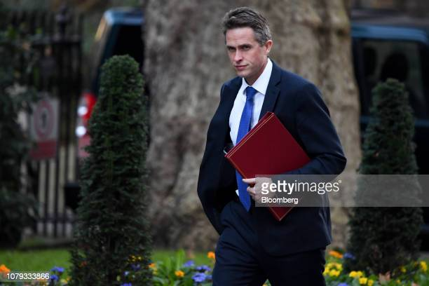 Gavin Williamson UK defence secretary arrives for a weekly meeting of cabinet ministers at number 10 Downing Street in London UK on Tuesday Jan 8...