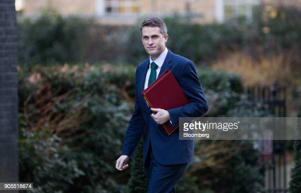 Gavin Williamson UK defence secretary arrives for a weekly meeting of cabinet ministers at number 10 Downing Street in London UK on Tuesday Jan 16...