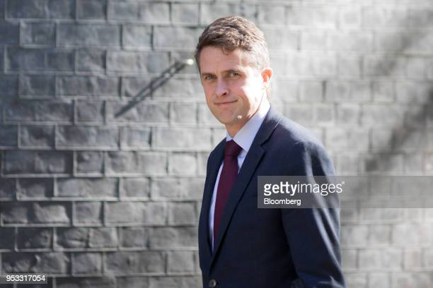 Gavin Williamson UK defence secretary arrives for a weekly meeting of cabinet ministers at number 10 Downing Street in London UK on Tuesday May 1...