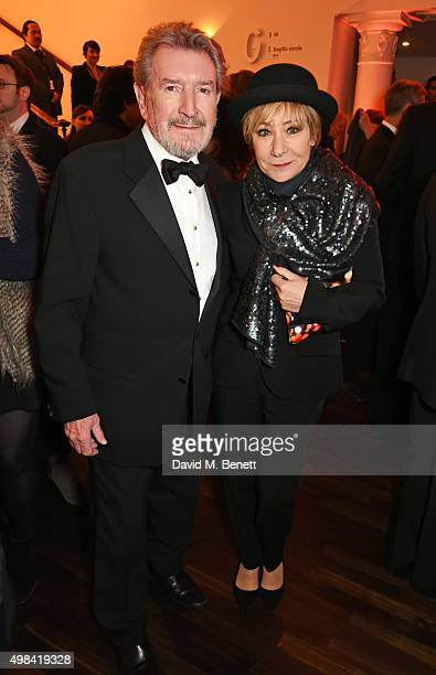 Gawn Grainger and Zoe Wanamaker attend a champagne reception ahead of The London Evening Standard Theatre Awards in partnership with The Ivy at The...