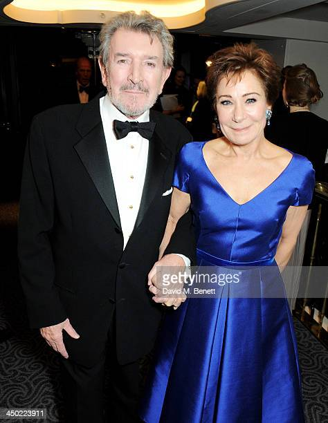 Gawn Grainger and Zoe Wanamaker attend a drinks reception at the 59th London Evening Standard Theatre Awards at The Savoy Hotel on November 17 2013...