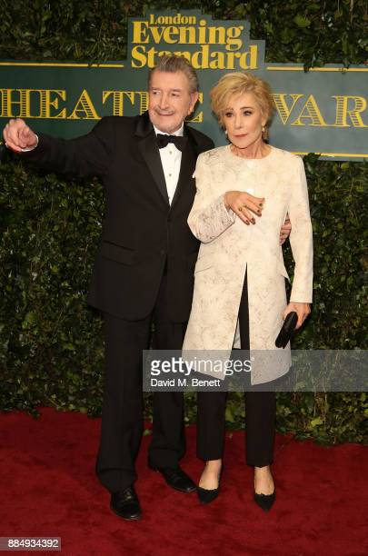 Gawn Grainger and Zoe Wanamaker attend the London Evening Standard Theatre Awards at Theatre Royal on December 3 2017 in London England