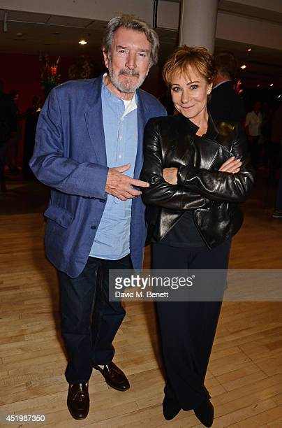 Gawn Grainger and Zoe Wanamaker attend the press night performance of Brasil Brasileiro at Sadler's Wells Theatre on July 10 2014 in London England