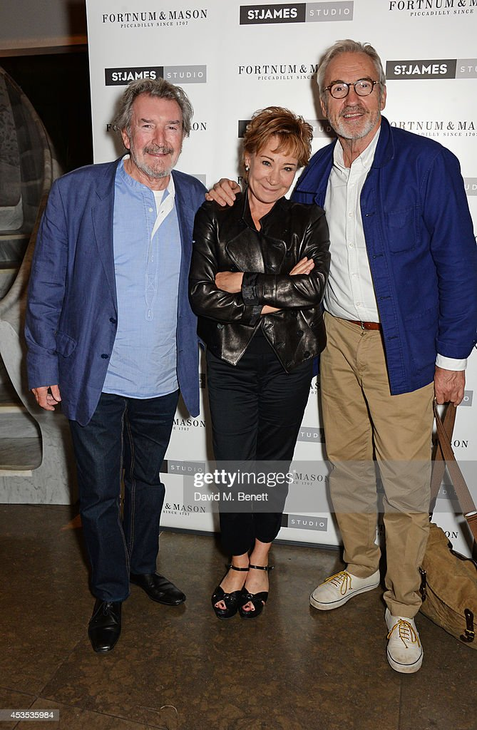 Gawn Grainger, Zoe Wanamaker and Larry Lamb attend an after party celebrating the press night performance of 'Celia Imrie: Laughing Matters' at the St James Theatre on August 12, 2014 in London, England.