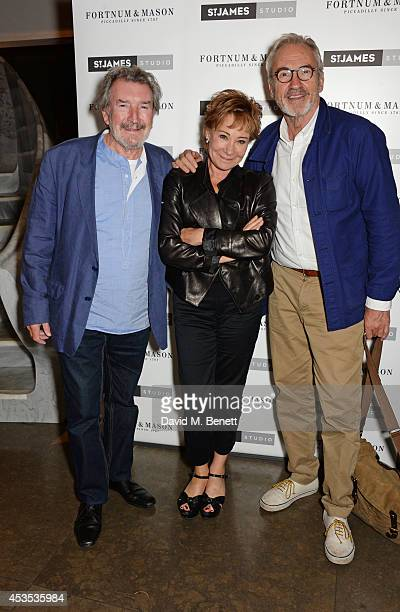 Gawn Grainger Zoe Wanamaker and Larry Lamb attend an after party celebrating the press night performance of Celia Imrie Laughing Matters at the St...